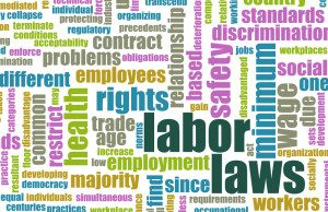 Labor Law word collage